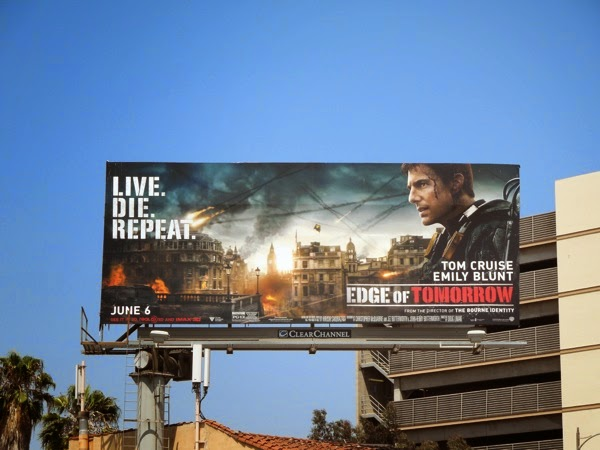 Tom Cruise Edge of Tomorrow movie billboard