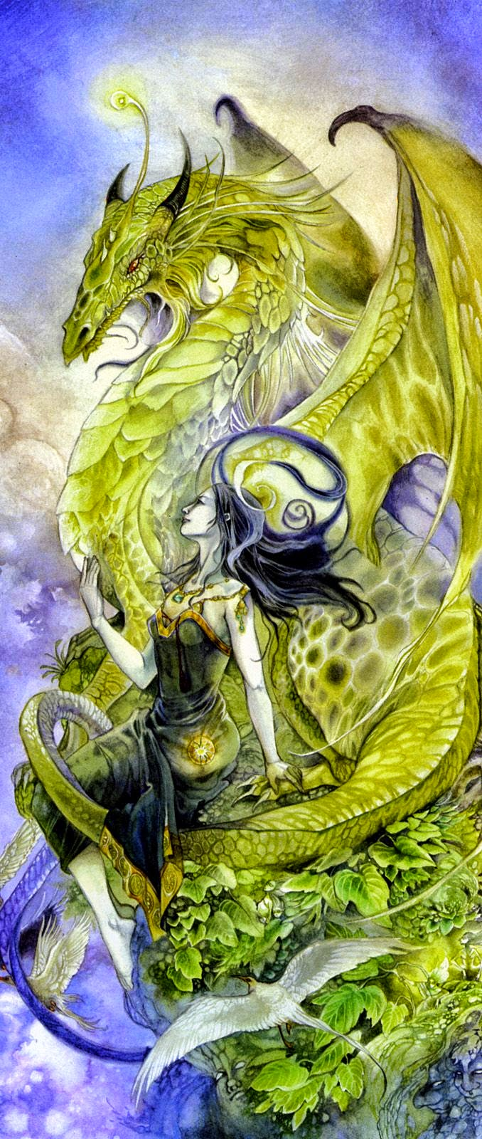 Faery with her Pet Dragon