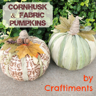 Cornhusk and Fabric Pumpkins (by Craftiments)
