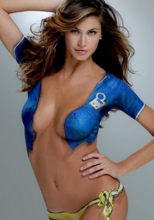 Irina Shayk Body Painting-Sports Illustrated Swimsuit 2011 - zee tube