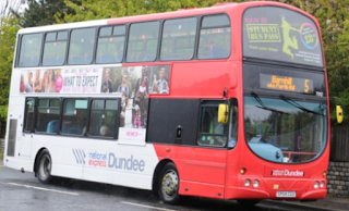 National Express Dundee No 5 Bus in Broughty Ferry