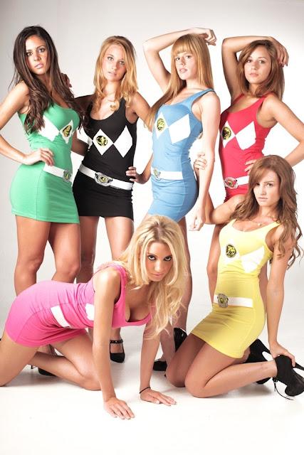 power rangers cosplay - versao feminina
