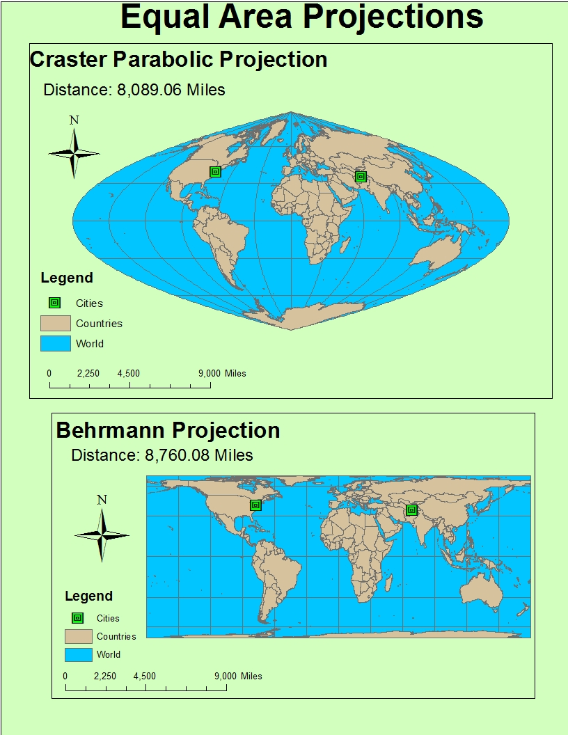 equal area map projection Looking for equal-area map projection find out information about equal-area map projection a map projection having a constant area scale it is not conformal and is.