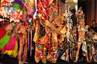 Best in National Costume, Hong Kong with runners up Vietnam and Venezuela