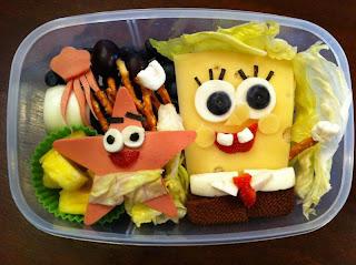 bob esponja compuesto de comida