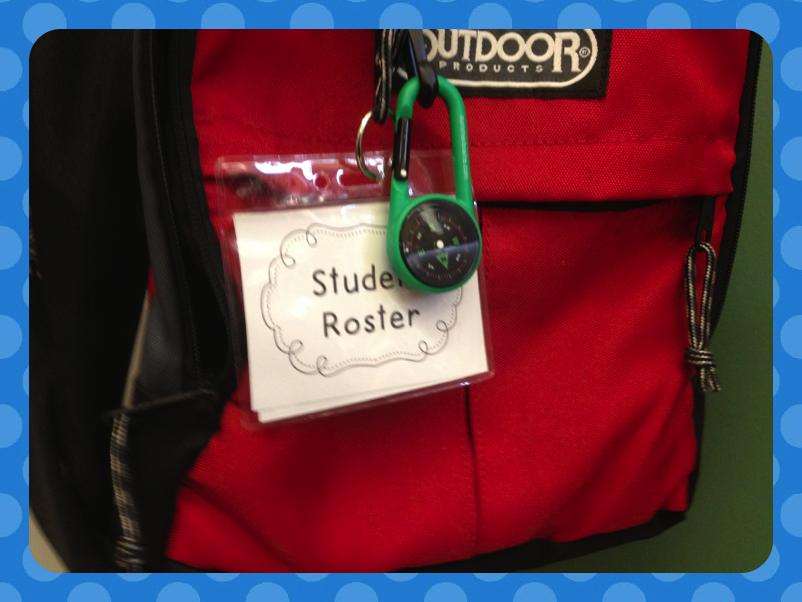 nametag sleeves.  kindergarten emergency roster