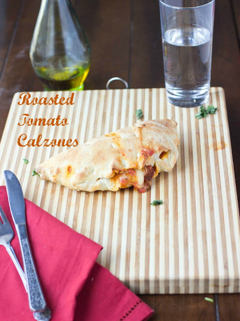 Roasted Tomato and Cheese Calzones