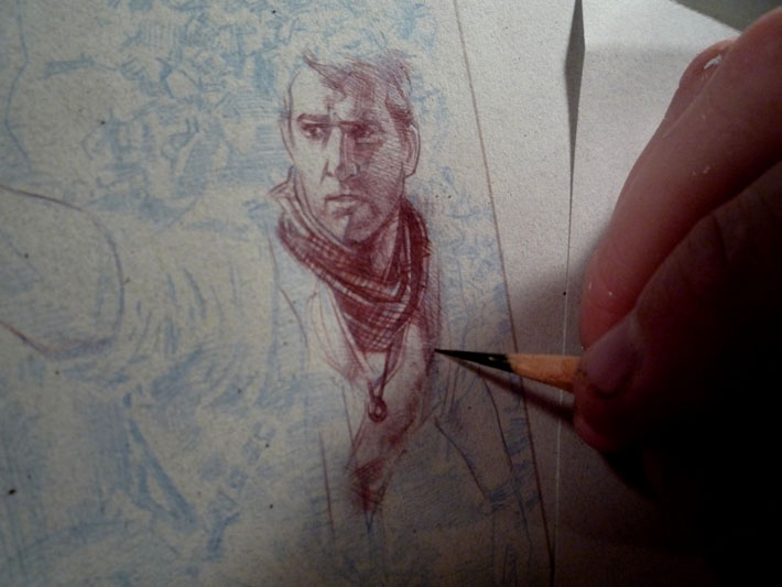 Uncharted 3 rough sketches by Jeff Lafferty