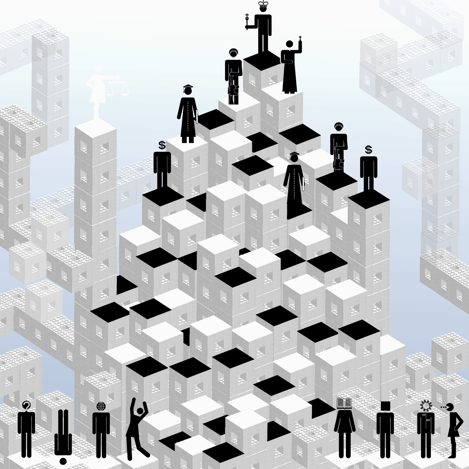 Cooperar, competir, Poder, ajedrez, Escher, inteligenci,