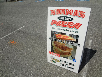 New Sign for my pizza stand at Root's Market by Lititiz Sign Company