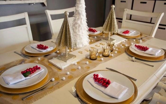 Decoraci n de la mesa en navidad colores en casa - Decorar la mesa en navidad ...