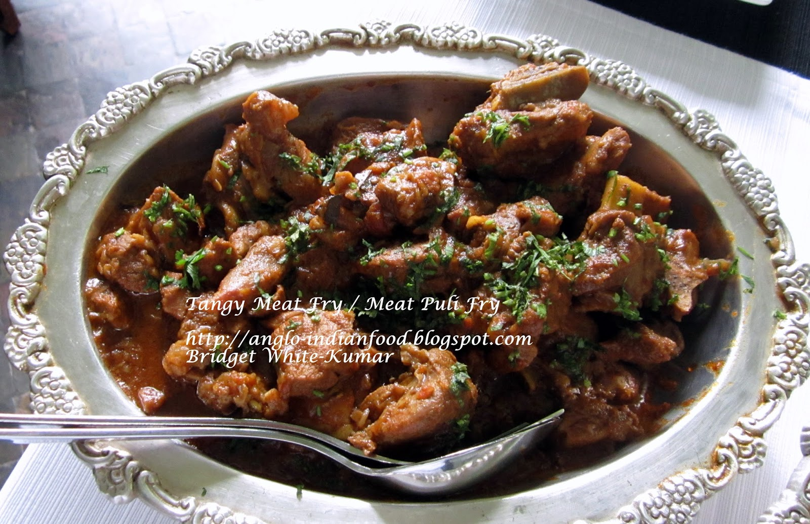 Anglo indian food by bridget white kumar tangy meat fry for Anglo indian cuisine