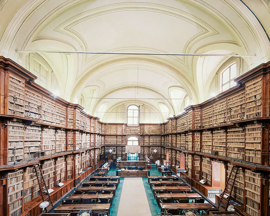 Biblioteca Angelica, Rome - House Of Books: The Most Majestically Beautiful Libraries Around The World Photographed By Franck Bohbot