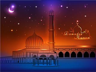美しいモスクを臨む景色 mosque illustrations and backgrounds イラスト素材1