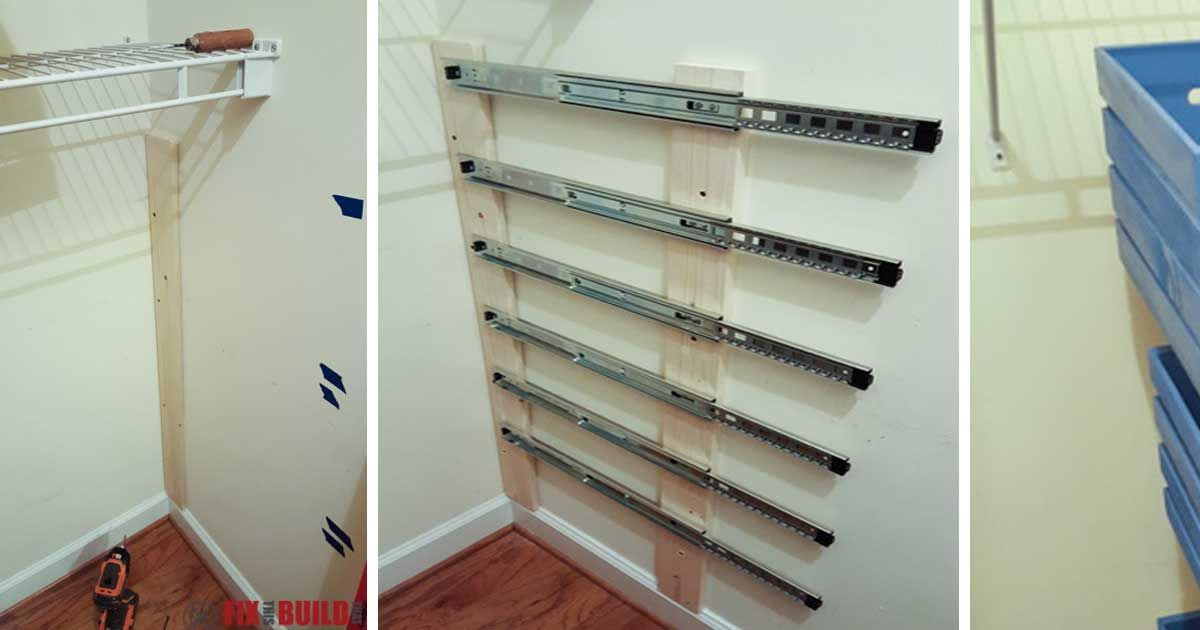 How To Build Floating Closet Storage Boxes