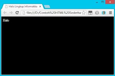 Contoh HTML Sederhana image