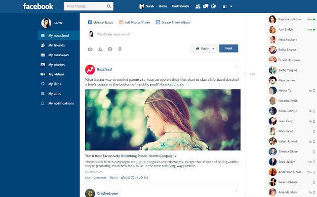 Cara Mengubah Tampilan Facebook Menjadi Flat