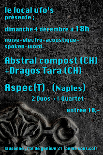 4 dc 11 18h | Aspec(t) + Abstral Compost + Tara @ UFO&#8217;s