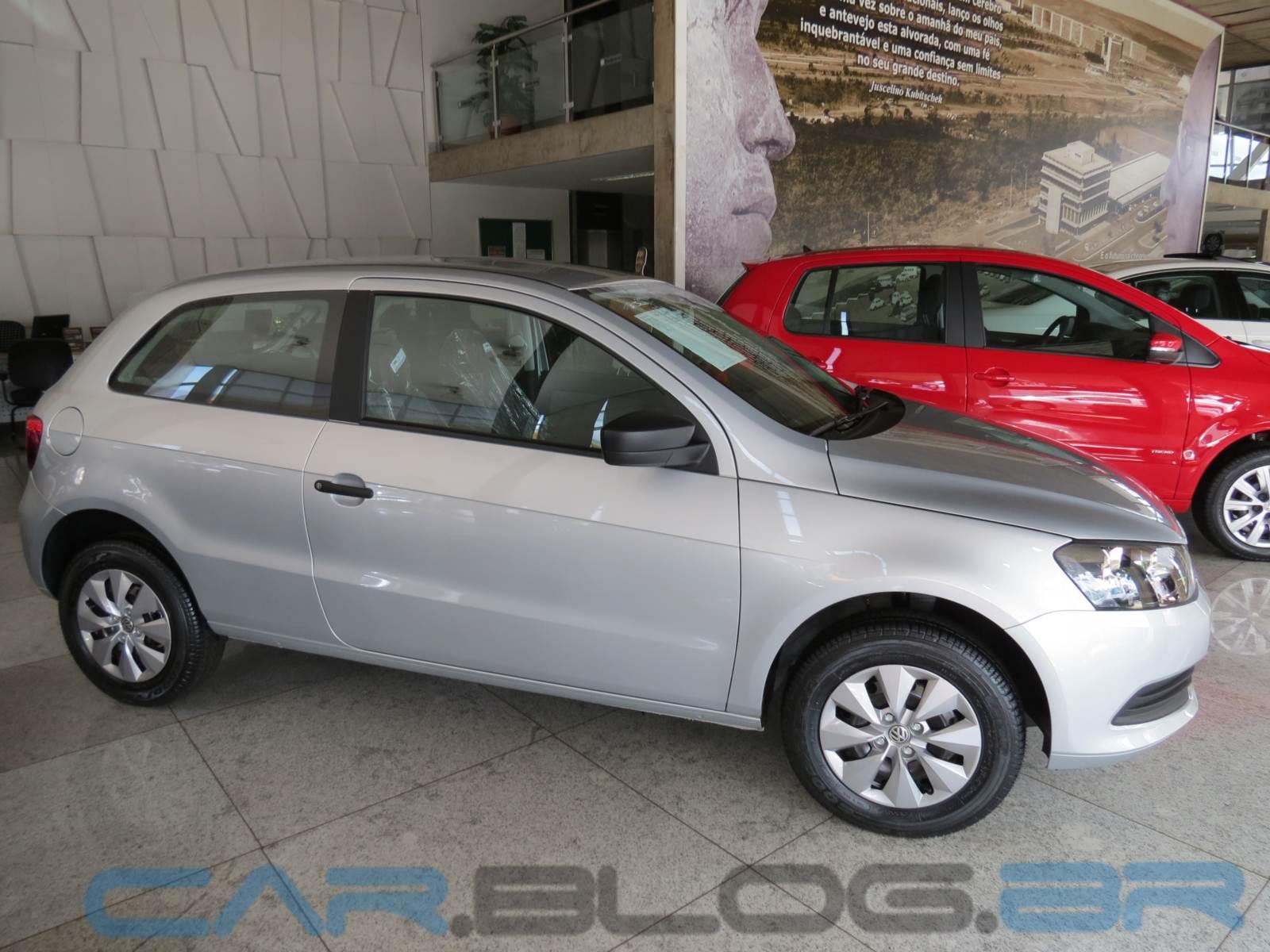 VW Gol G6 2 portas - Prata Sírius