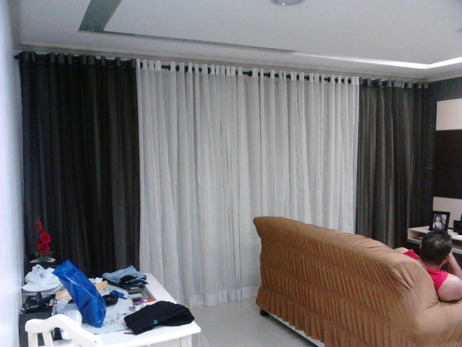 #24467D Suely Cortinas: Sala de Estar ao pôr do sol 1600x1200 píxeis em Cortinas Chiques Para Sala De Estar