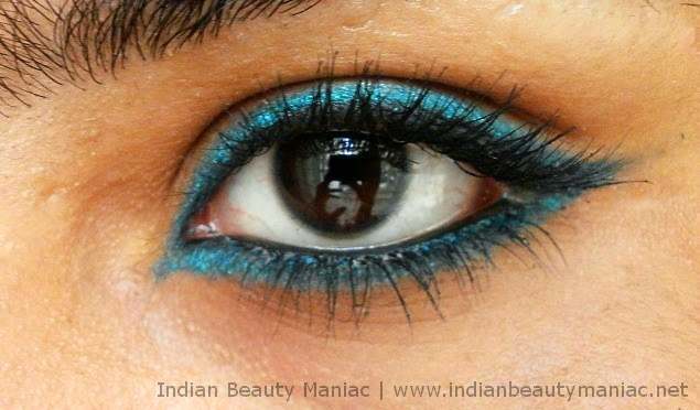 Maybelline Colossal Kohl in Turquoise EOTD