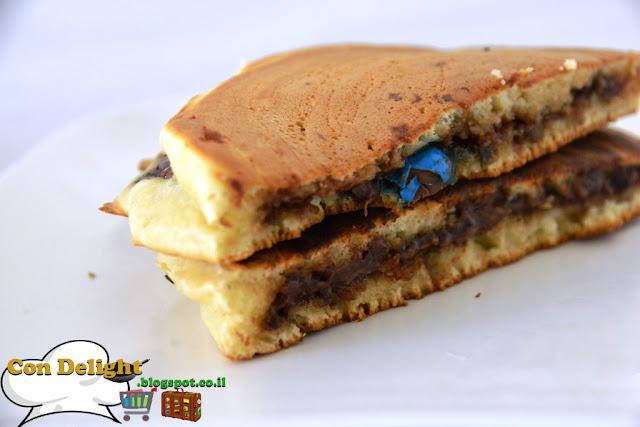 פנקייקס במילוי נוטלה Nutella filled pancakes