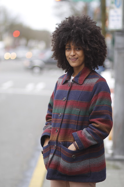 Mariamawit Atnafu Pendleton coat natural hair seattle street style fashion it's my darlin'