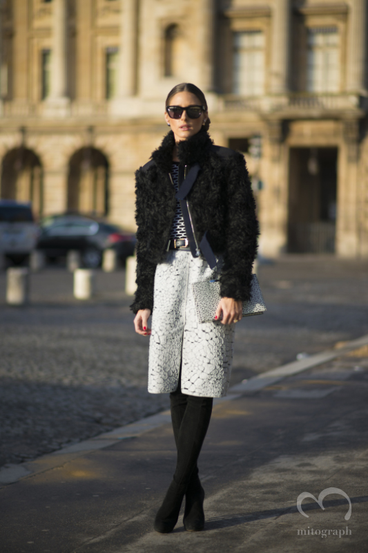 Olivia Palermo at Paris Fashion Week 2014 Fall Winter PFW Season