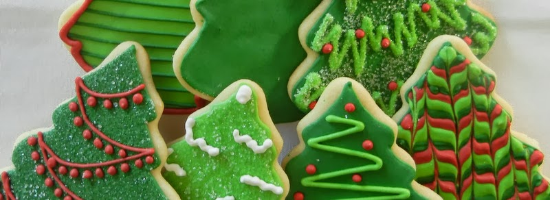 Cara Bella Cookies Christmas Tree Cookies