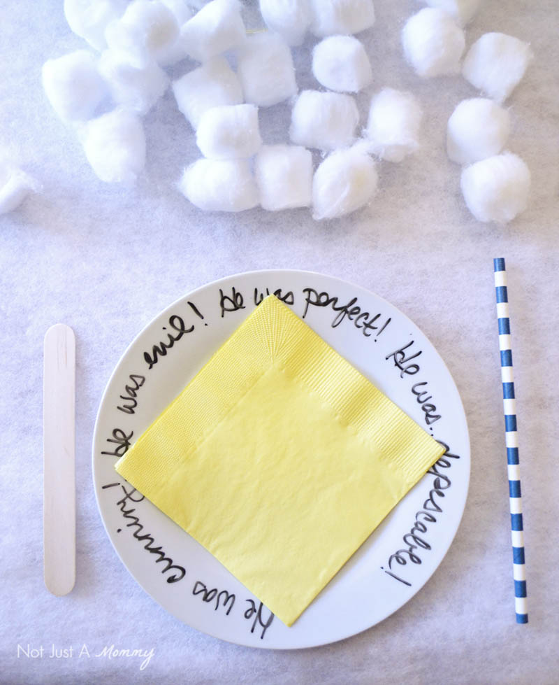 Minions Winter Yeti-land Movie Watching Party plate with our favorite movie sayings