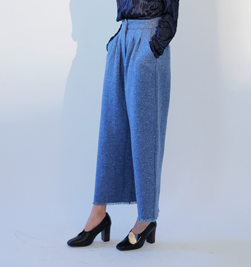 Frayed Hem Wide Leg Pants