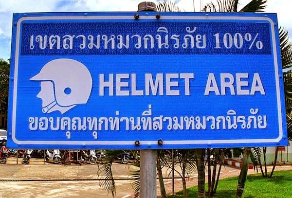 Helmtragen Pflicht in Thailand
