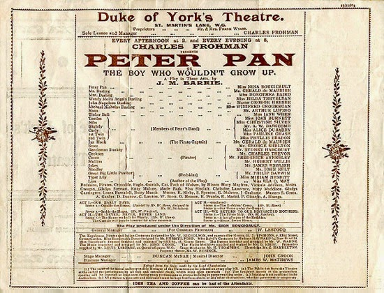 http://en.wikipedia.org/wiki/Peter_and_Wendy#mediaviewer/File:Peter-pan-play-announcement.jpg