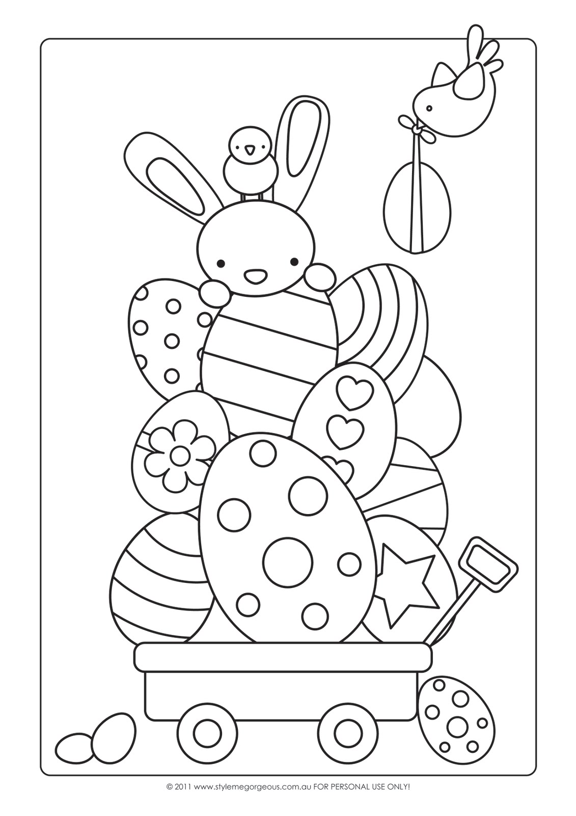 style me gorgeous free easter colour in page
