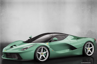 ferrari laferrari grey green