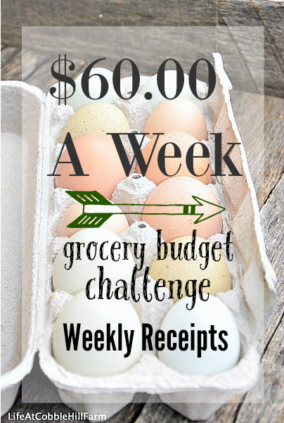 $60.00 A Week Grocery Budget Challenge at Life At Cobble Hill Farm week of 10/26/15