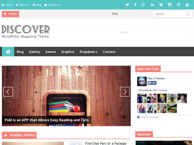 Discover Responsive Blogger Template