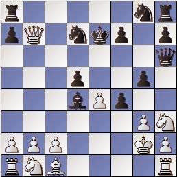 Partida de ajedrez Colomer vs Vivas Font, I Torneo Romántico 1947, posición después de 13…Cd7