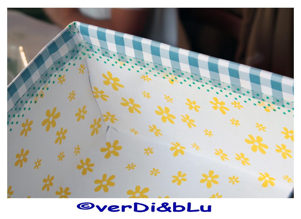 Verdi blu divertissements mammeschi tutorial per for Foderare una scatola