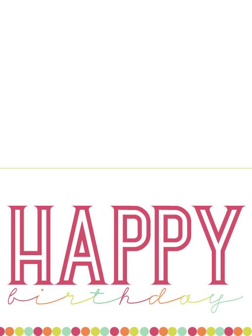 Printable Birthday Card Craftingee