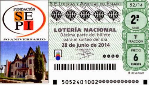 Sorteo 52 de la Lotería Nacional del sábado 28 de junio de 2014