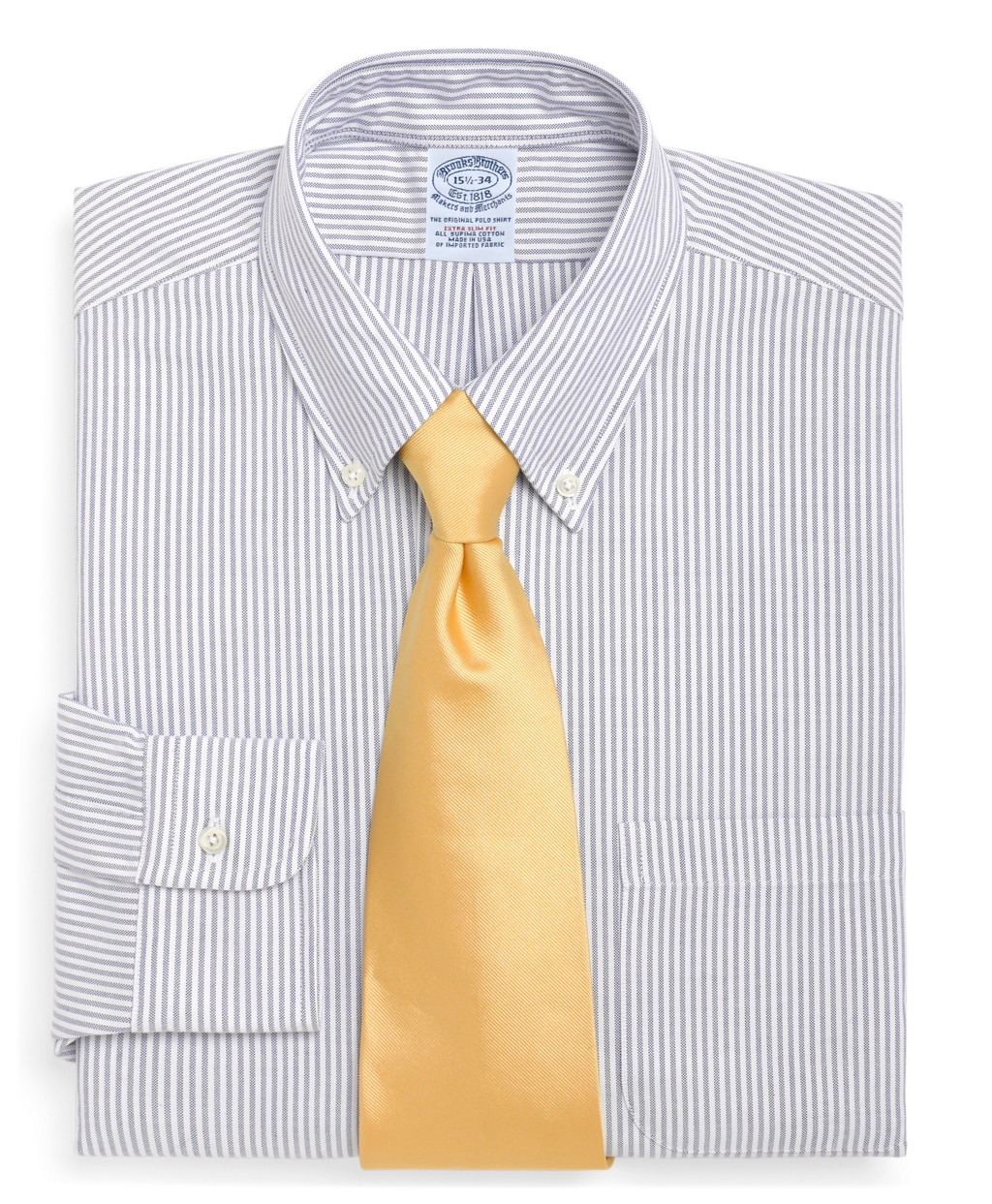 After the denim brooks brothers extra slim fit made in usa for Brooks brothers garland shirt factory