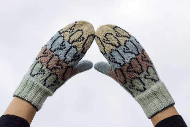 VOTTEVOTTER - Mittenmittens (single pattern)