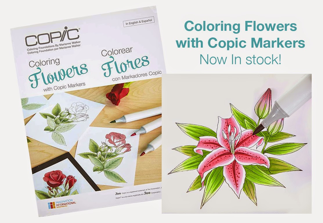I like markers coloring flowers with copic markers book giveaway ive been waiting weeks and weeks for the main shipment of my new book coloring flowers with copic markers nvjuhfo Image collections