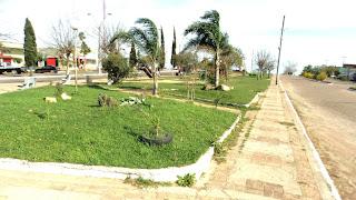 Praça Central de Aceguá, no Rio Grande do Sul.