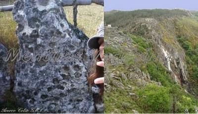 Vista da Frecha da Mizarela com uma foto tirada do local onde existem as Pedras Parideiras