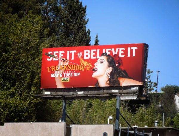 Freakshow season 2 fireeater billboard