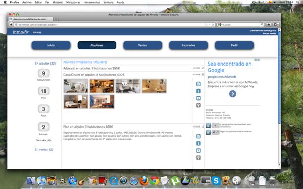 Página de una inmobiliaria en InmoDir