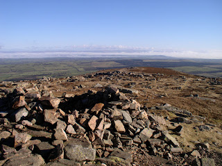 Looking across the Eden valley from the top of Carrock Fell