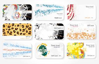 流行の名刺テンプレート trend card template vector1
